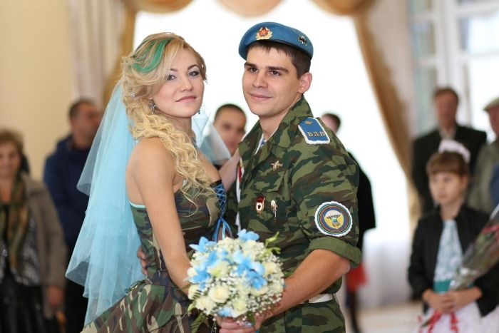 Russian Airborne Wedding