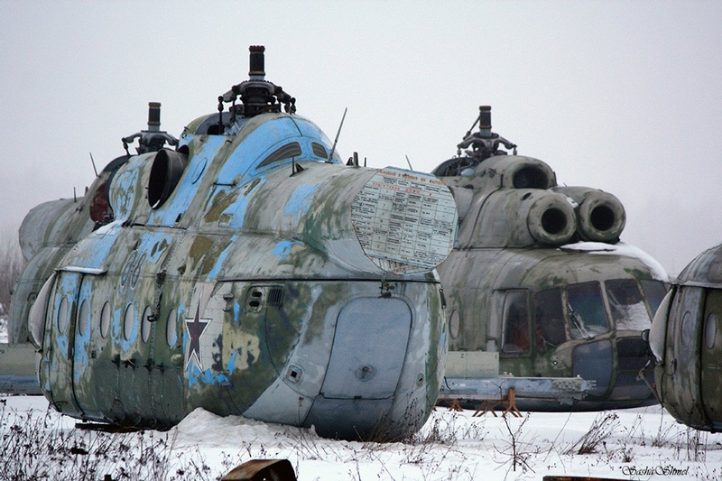 Aircraft Bodies Brought to Decay