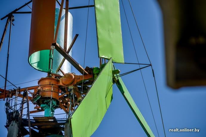 Windmill Made of Scrap