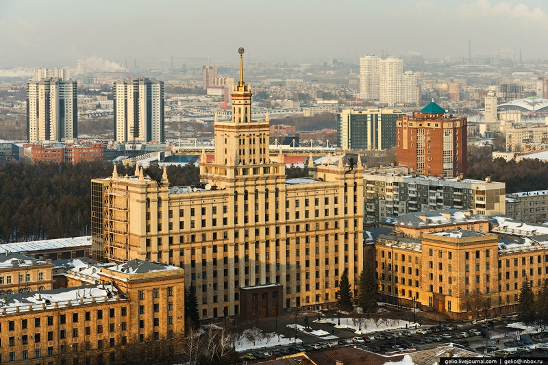 Half Siberian, Half Ural City From Above