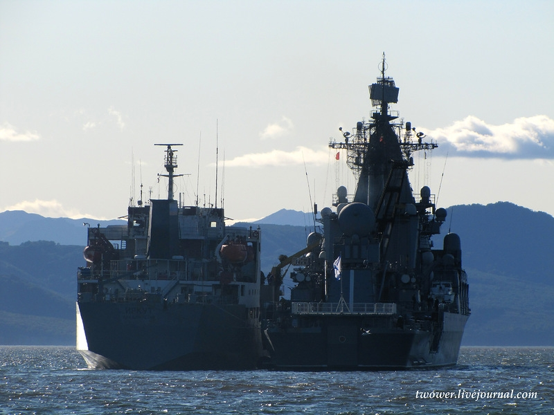 Cruiser Varyag Exercise