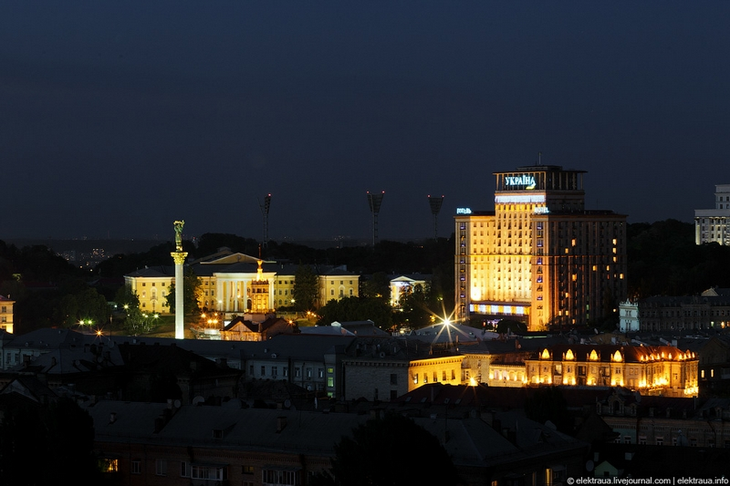 Views of Kiev At Night