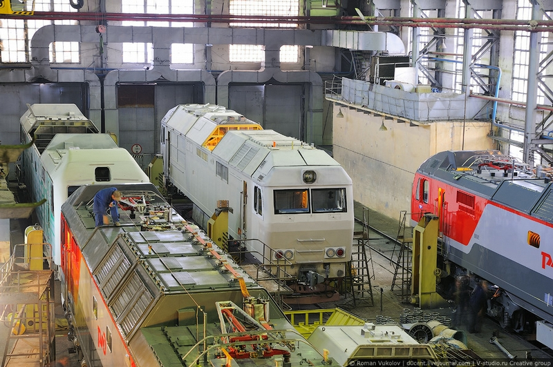 One Of The Largest Locomotive Construction Factories In Russia