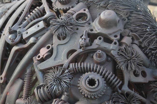 Aurochs Made of Auto Parts
