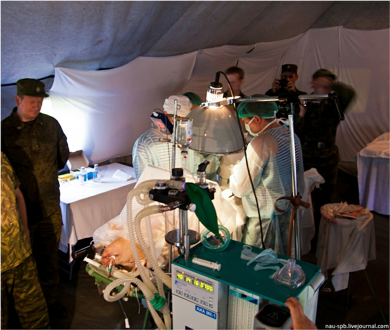 Military Medical Exercise In The Saint Petersburg Region