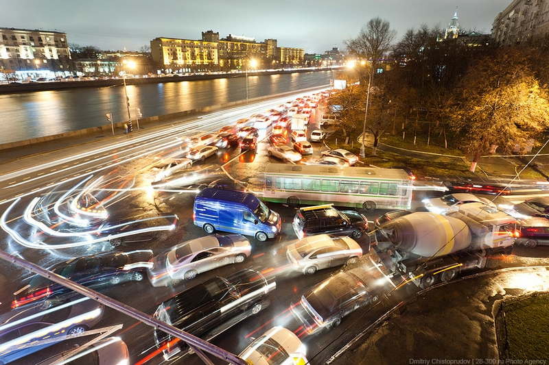 Hopeless Traffic Jams In Moscow