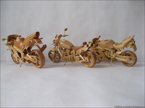 Wooden Mini Motorcycles