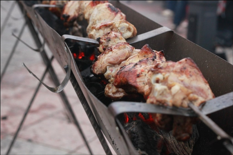 The Longest Shashlik Made In Yoshkar-Ola