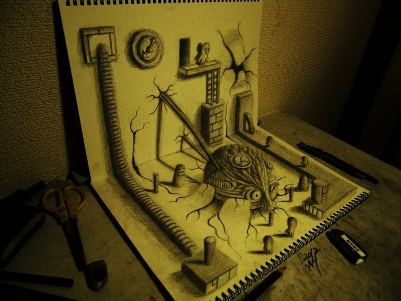 Cool 3D Drawings of a Japanese Artist