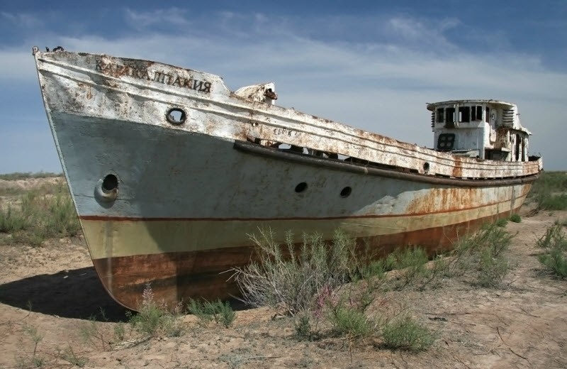 The Aral Sea Is Dying