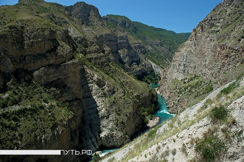 Dam On Steep Mountain Slopes