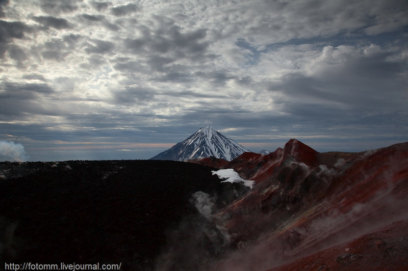 Volcano Colors In the Evening