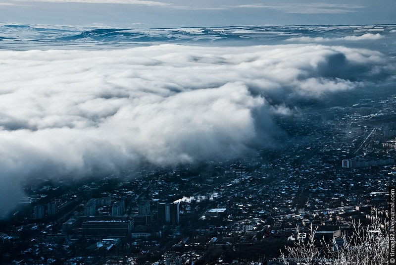 The City Under the Blanket of Clouds