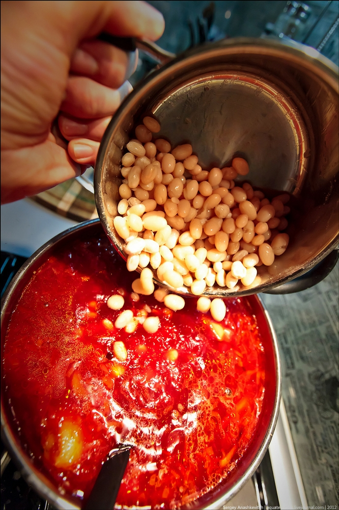 Dinner For A Bachelor Or How To Make Borsch.. Again