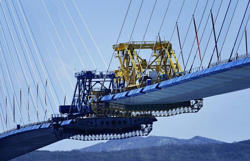 On Top Of The Bridge To Russky Island In Vladivostok