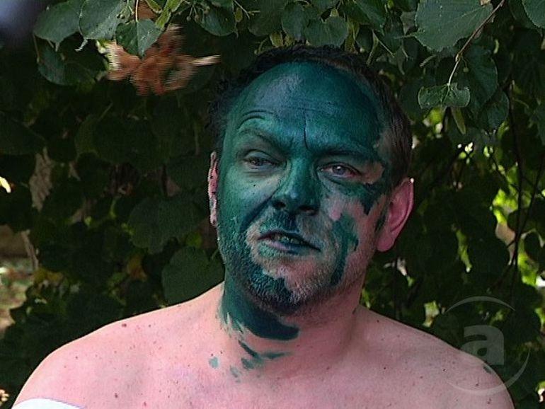 Got Green Face!
