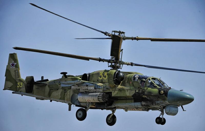 Practice Flights of Combat Helicopters In Chernigovka