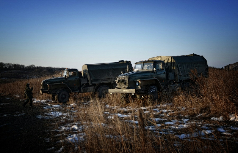 Military Exercises Of Mortarmen In The Primorye Region