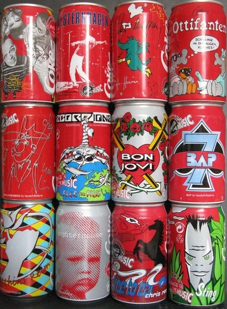 Soft Drink Cans From the 80-90s