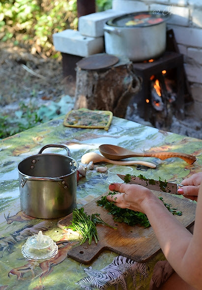 Fish Broth Aroma Or Ideal Dacha Day