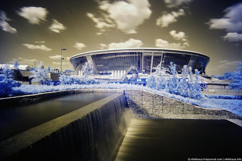 Modern Donbass Arena In Donetsk