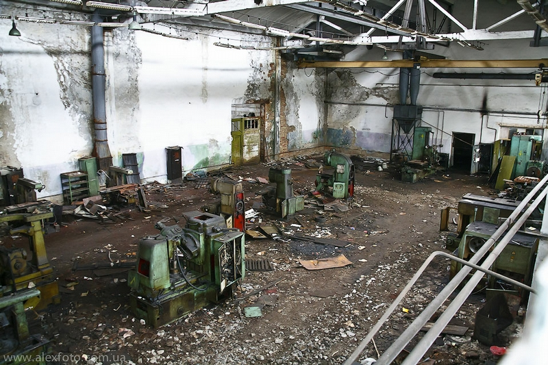 Decaying Kiev Electric Transport Plant