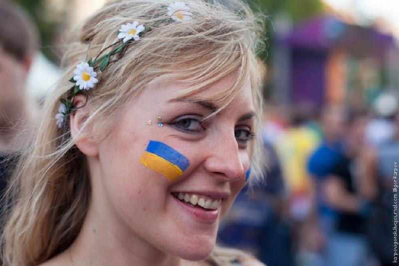 Russian And Ukrainian Football Fans