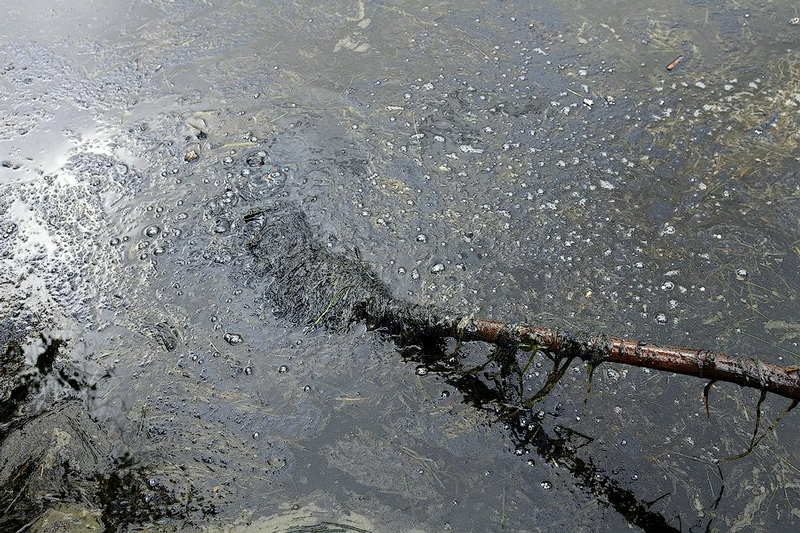 Fuel Oil Spill Right At the Moscow Ring Road