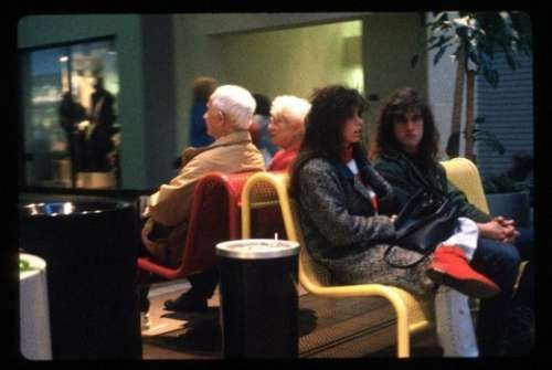 People in Mall in 1990s