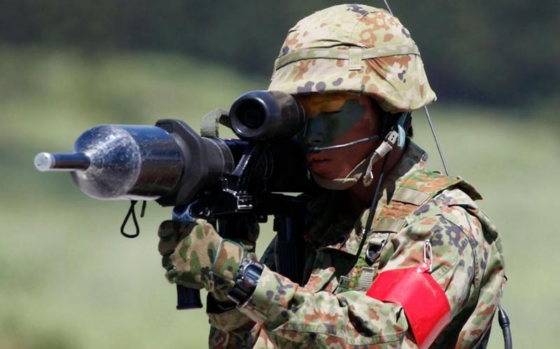 Japanese Military Training at Fujiyama Volcano