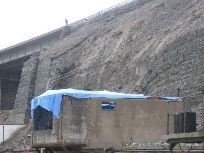 Gabion Wall Falls In Vladivostok