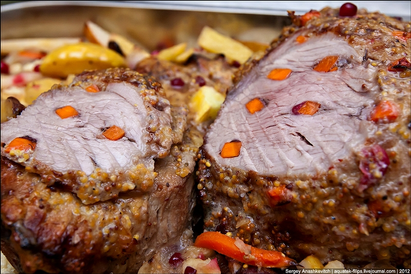Juicy Ham Stuffed With Cranberries