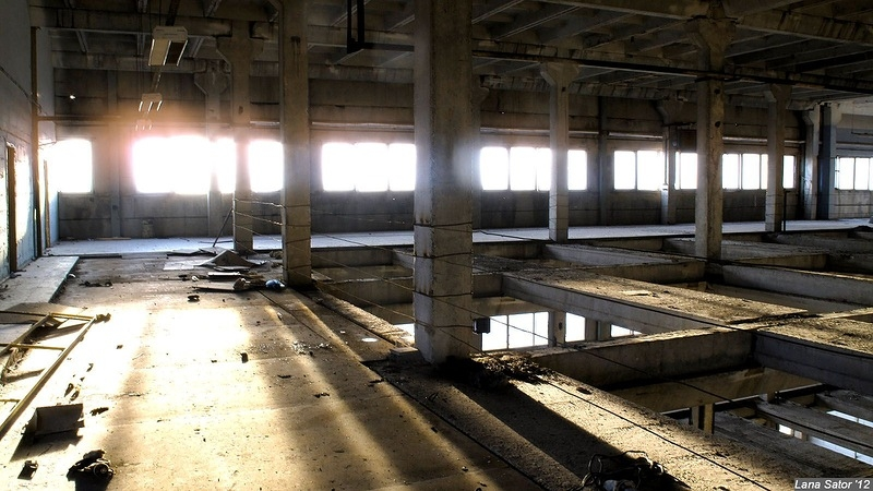 At the Abandoned Chemical Fiber Plant