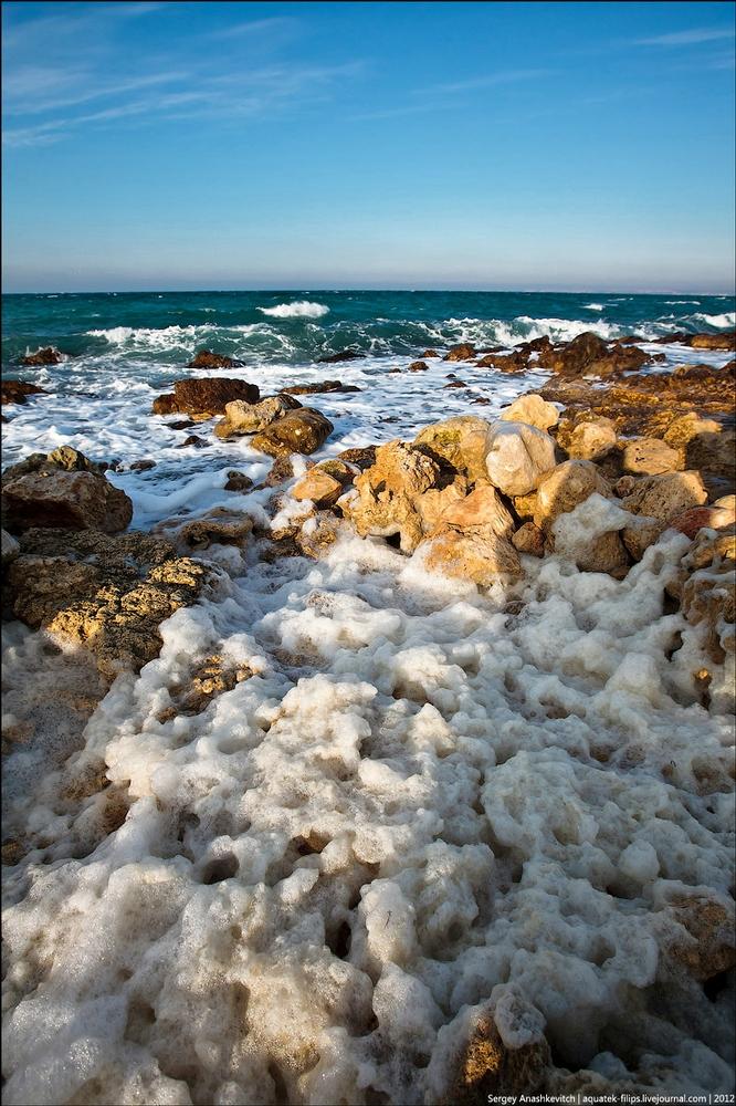 Ice-Covered Beaches Of The Crimea