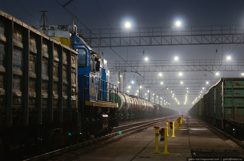 Inskaya Railway Station In Novosibirsk
