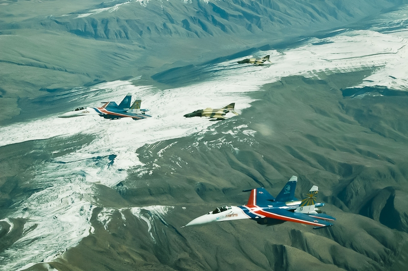 The Russian Knights Flying Over Iran