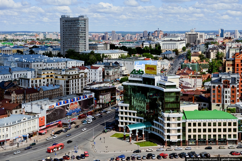 One of the Biggest Russian Cities From Above