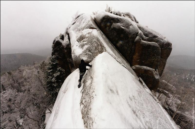 Climbing Pillars Of The Krasnoyarsk Stolby State Nature Reserve