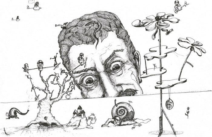 Desenho de pessoa com esquizofrenia