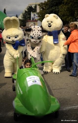Happy Mascots of Olympic Sochi