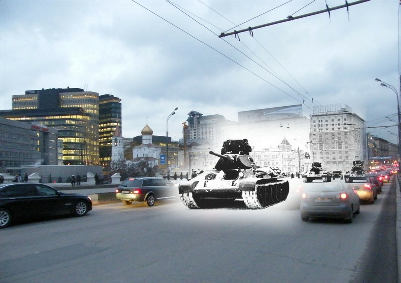 Defence of Moscow: Times Past and Present on One Photo [20 photos]