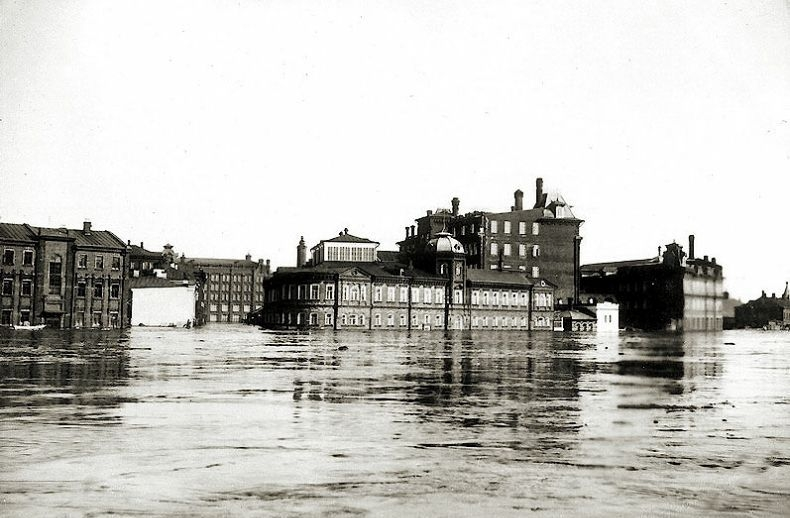The Biggest Moscow Flood of 1908