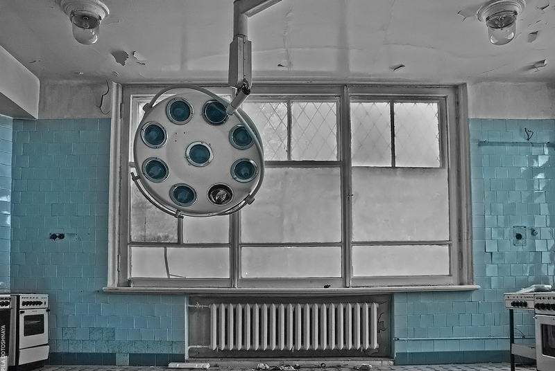 Hospital With No Patients Or Doctors