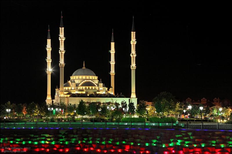 Festive Lights of Grozny
