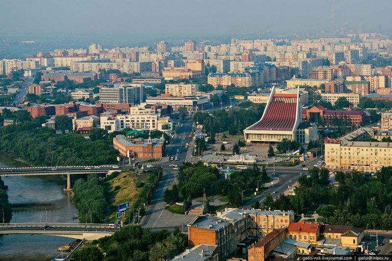 Aerial Photoshoot of the Siberian City