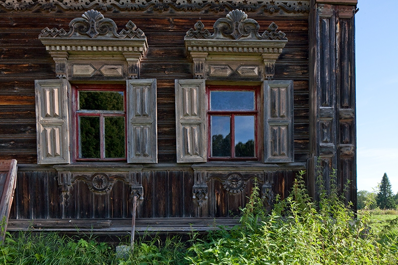 One Old House In The Abandoned Village