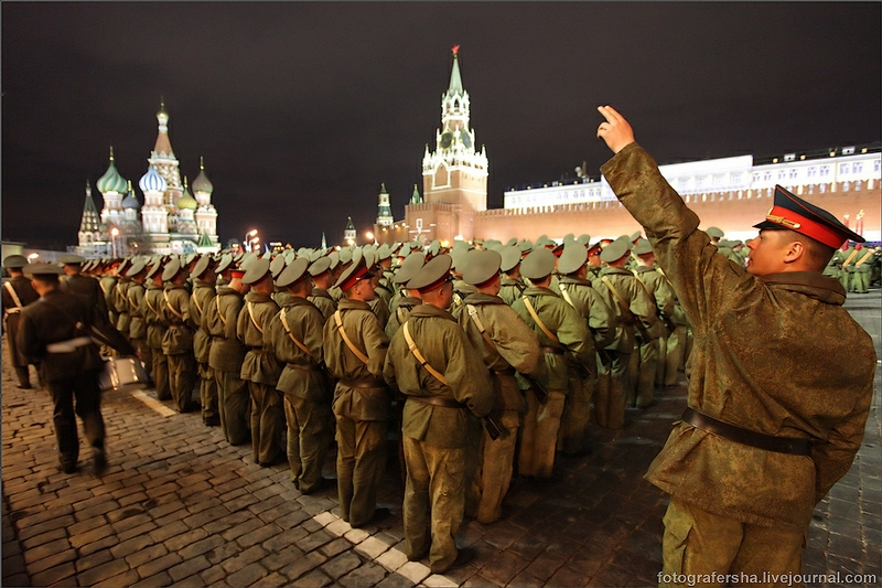 Victory Parade Rehearsal On Red Square