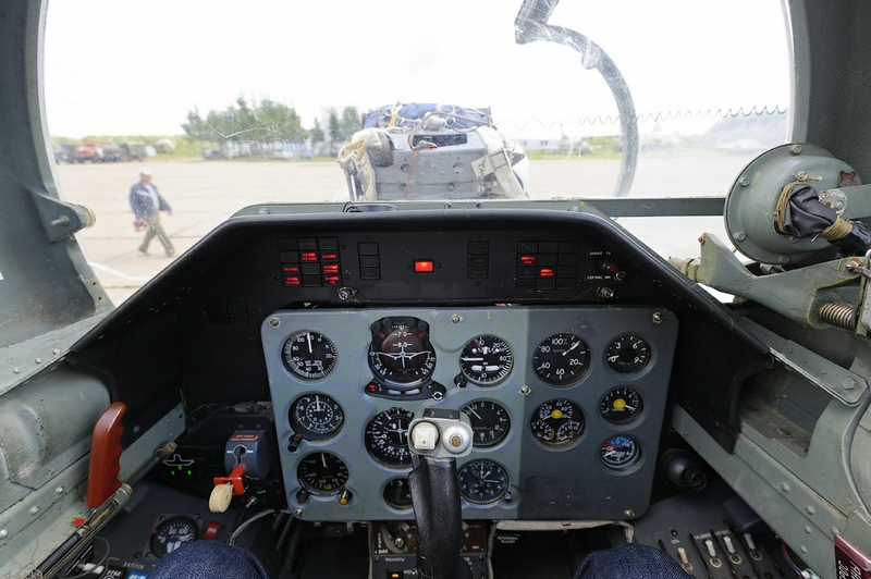 Work of the Aerobatic Team From Inside