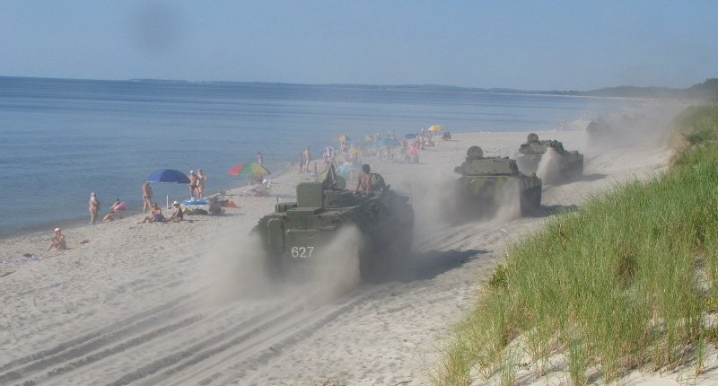 Suddenly On a Russian Beach