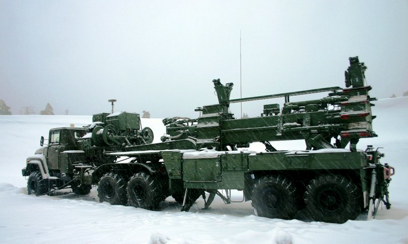 Missile Systems Covered With Snow